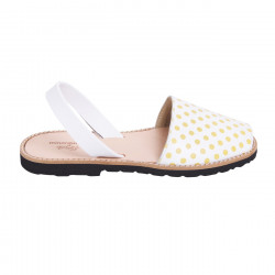 Avarca Leather Yellow Polka Dots