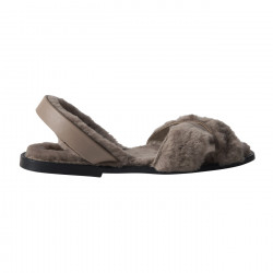 Avarca Sheepskin Bering Grey/Leather sole
