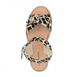 Avarca Buckle Leather Leopard
