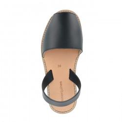 Avarca Leather Negro