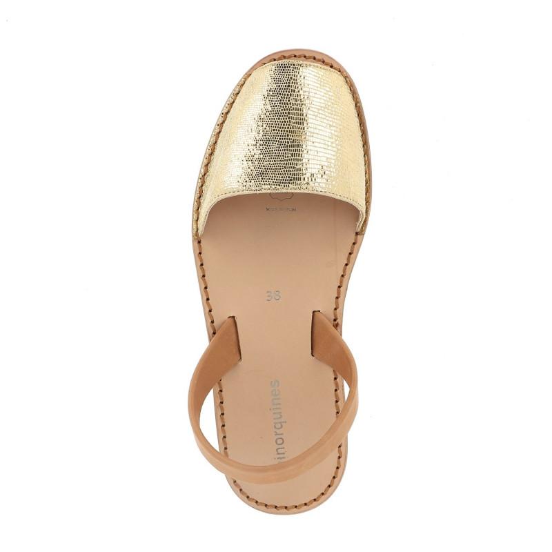 fcea45098fb13 Sandales femmes dorées - Avarca Neo Cuir Brillant Doré
