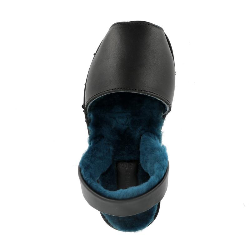 Avarca Sheepskin Samsø Blue