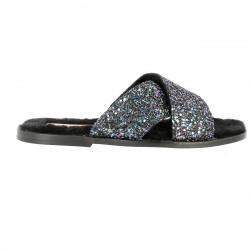 Mules Glitter North Pole/Leather sole