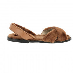 Avarca Sheepskin Bering Chestnut/Leather sole
