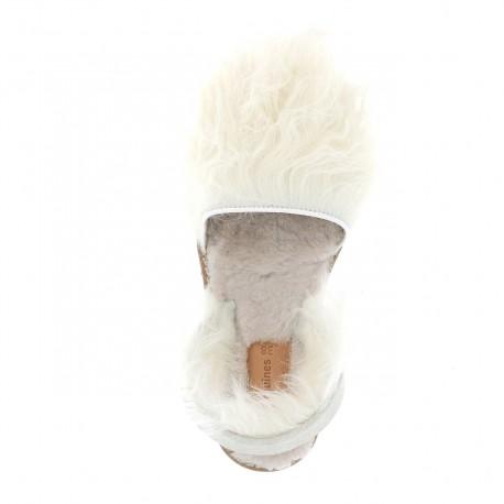 Avarca Sheepskin Mongolia Blanco