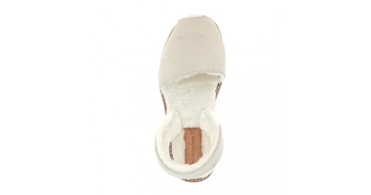 Avarca Mouton Blanc Cassé