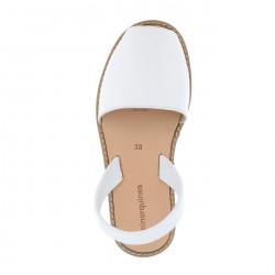 Avarca Leather Blanco