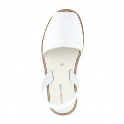 Avarca Leather Blanco Fiesta Blanca