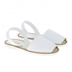Avarca Leather Blanco Fiesta Blanca