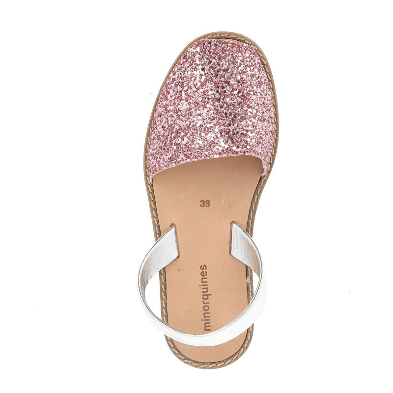 f11ee026736f Women s sandals with pink glitter - Avarca Glitter Pink