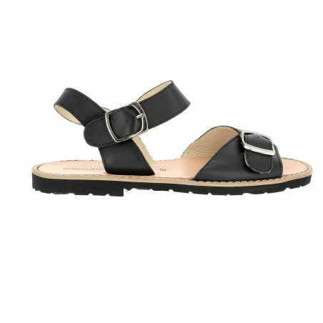 Avarca Buckle Leather Negro