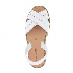 Avarca Rock Leather Blanco