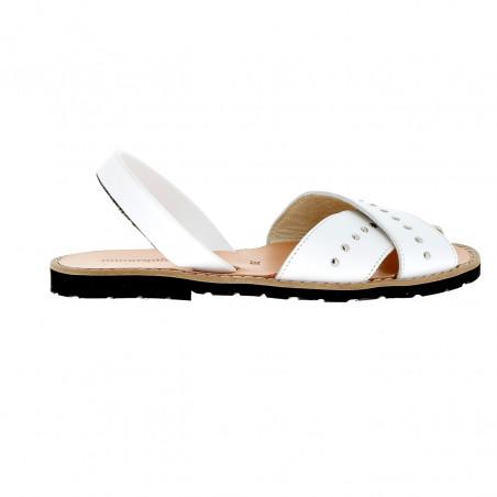 Avarca Rock Leather Blanco
