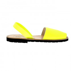 Avarca Leather Neon Amarillo