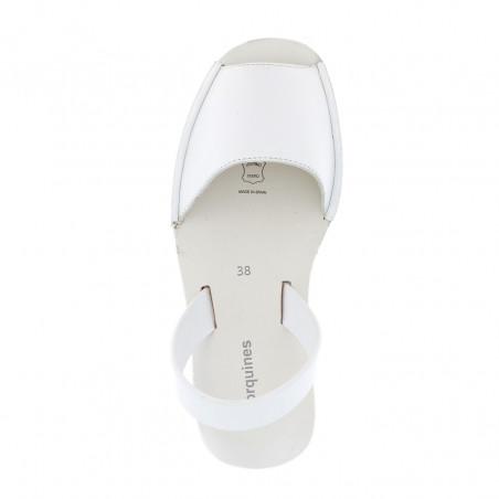 Avarca Creepers Leather Blanco
