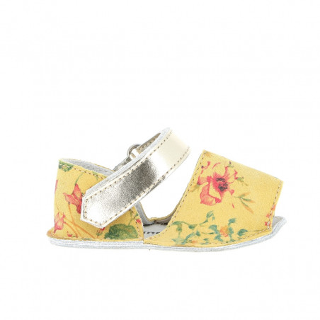 Frailera Baby Flowered Leather Yellow