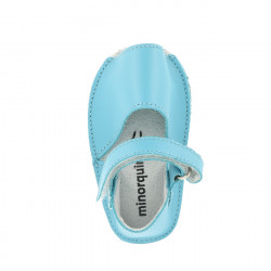 Frailera Baby Leather Aqua