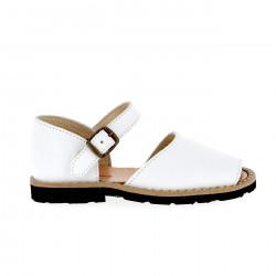 Frailera Buckle Leather Blanco
