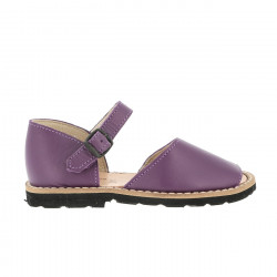 Frailera Buckle Leather Violet