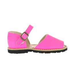 Frailera Buckle Leather Neon Fuchsia