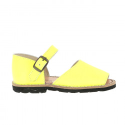 Frailera Buckle Leather Neon Amarillo