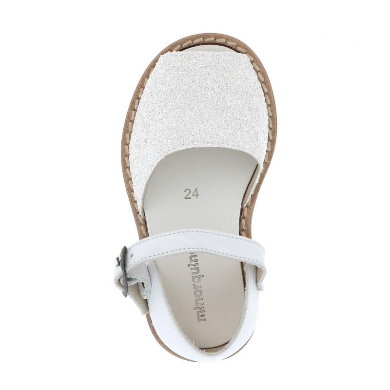 Frailera Buckle Glitter White N°24 Fiesta Blanca