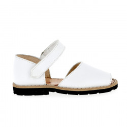 Frailera Velcro Leather Blanco