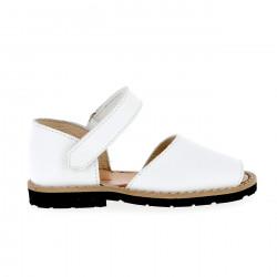 Frailera Velcro Cuir Blanco