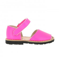 Frailera Velcro Leather Neon Fuchsia