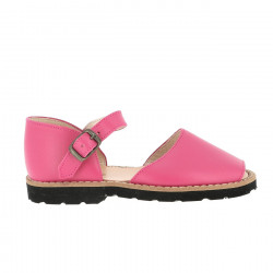 Frailera Buckle Leather Fuchsia