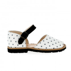 Frailera Buckle Black Polka Dots