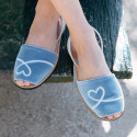 Avarca Velvet Blue Minorquines x Côme