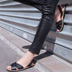 Avarca Rock Leather Negro
