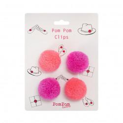Pom Pom Clips Flamingo Pinks