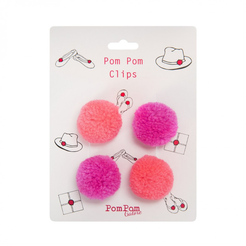 Pom Pom Clips Flamingo Pinks