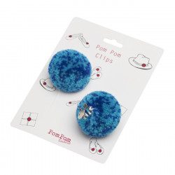 om Pom Clips Blue Large