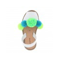 Pom Pom Clips Turquoise Lime