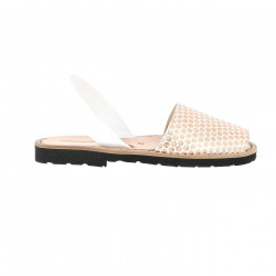 Avarca Leather Salmon Polka...