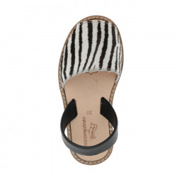 Avarca Piel Zebra