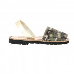 Avarca Leather Camouflage Gold