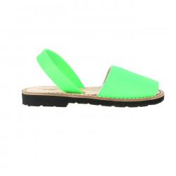 Avarca Leather Neon Verde