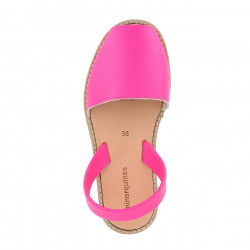 Avarca Leather Neon Fuchsia