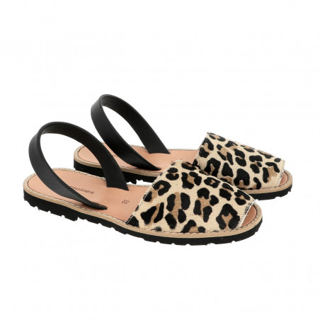 Avarca Leather Leopard