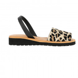Avarca Platja Leather Leopard