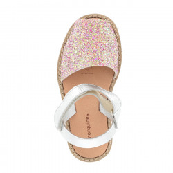 Avarca Velcro Paillettes Sunny Roses