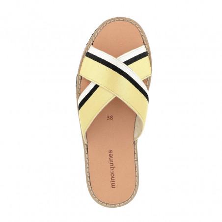 Avarca Mule Rafel Galon Yellow/Negro