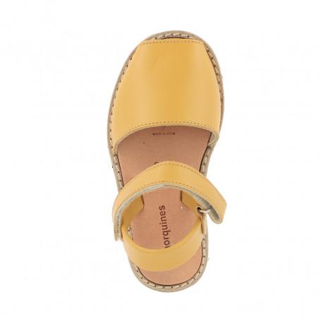 Avarca Velcro Leather Golden