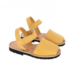 Avarca Velcro Leather Golden