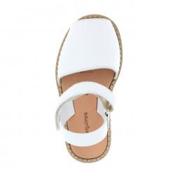 Avarca Velcro Piel Blanco