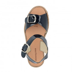 Avarca Buckle Varnished Azul
